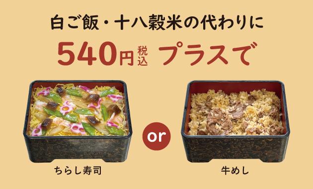 ちらし寿司・牛めし説明
